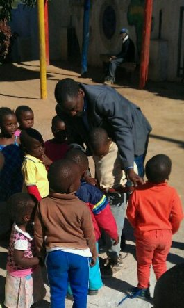 Surprise with the children at Village of Hope