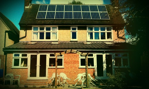 Holy Treasure Community House in Kettering, with solar panels