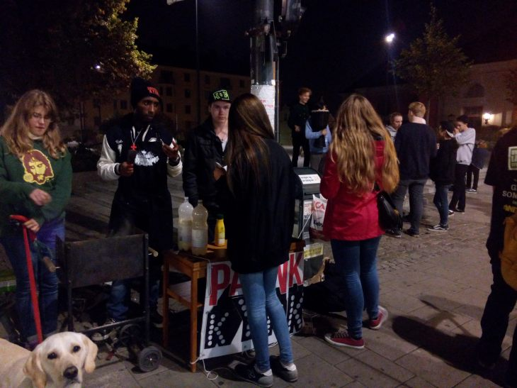 Me and some friends were out on the streets evangelizing yesterday, by handing out free pancakes and sharing the Gospel