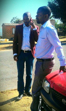 Surprise Sithole, to the left, and Francis Shongwe, who claims that Sithole raised him from the dead in the power of the Holy Spirit