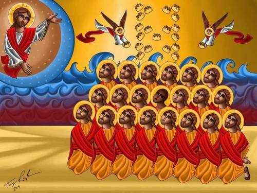 martyrs coptic isis