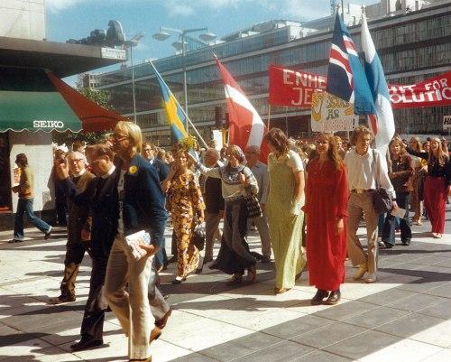 Jesus March in Stockholm, 1974. Photo: Jan-Gunnar Jansson